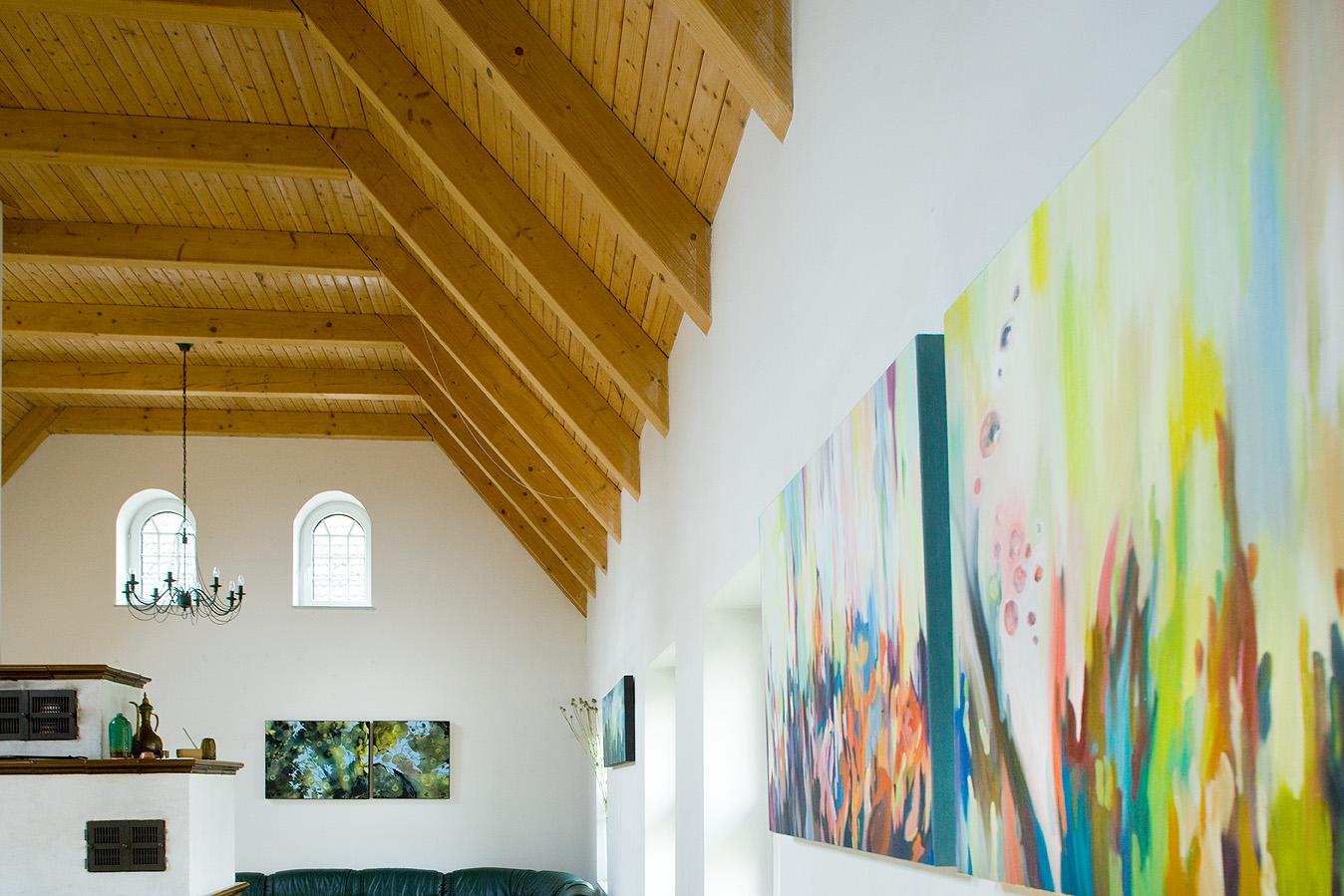 wechselnde Ausstellungen (hier Birgit Reichert)