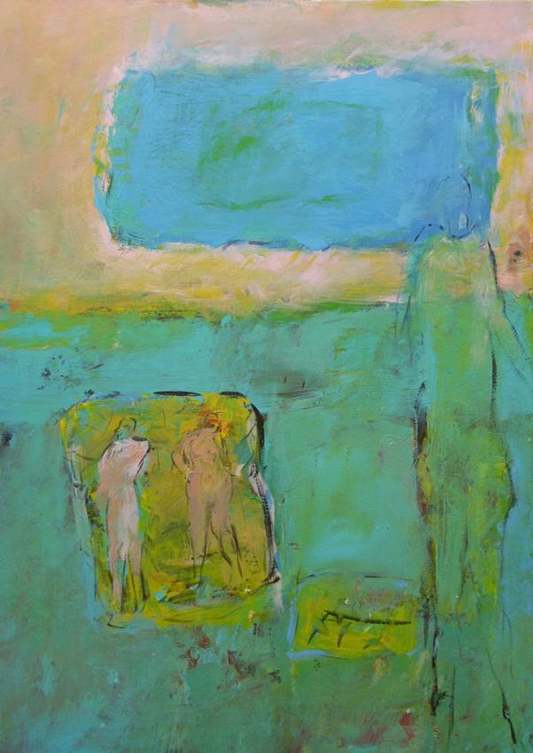Eckhorn-Gemälde-Am-See
