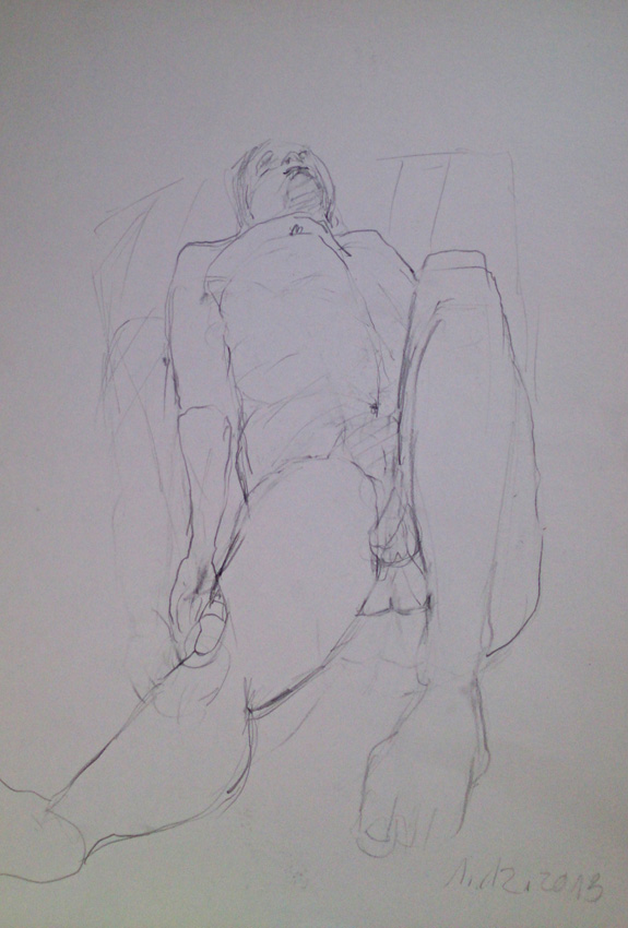 Sybille-Eckhorn-Zeichnung-Akt-liegend