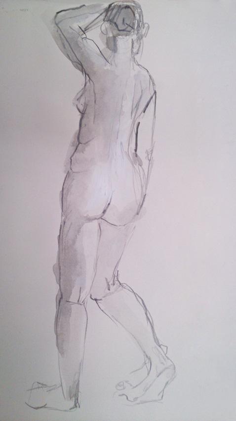 Sybille-Eckhorn-Zeichnung-Akt-stehend-1