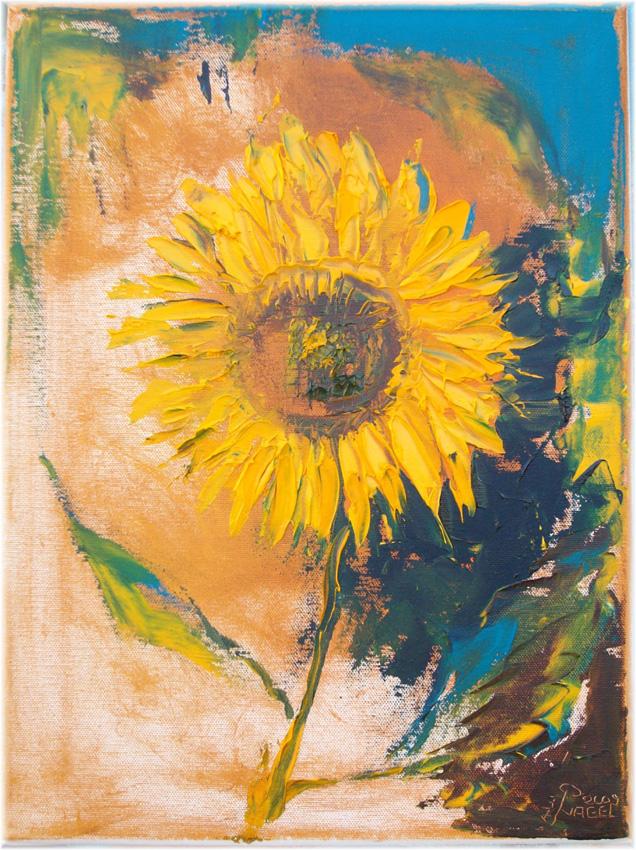 Jens-Nagel-Sonnenblume-auf-Braun