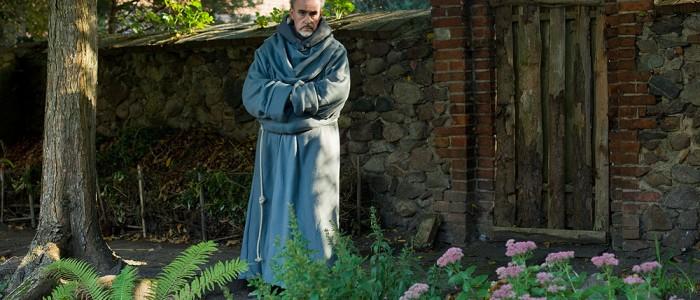 Mönch im ehem. Franziskanerkloster Gransee gesehen
